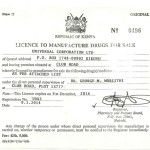 MANUFACTURE DRUGS FOR SALE LICENCE