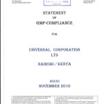 STATEMENT OF GMP COMPLIANCE